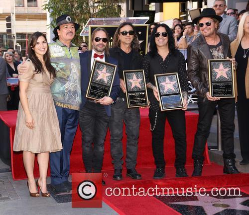 America Ferrera, Carlos Santana, Alex Gonzalez, Sergio Vallin, Juan Calleros and Fher Olvera 6