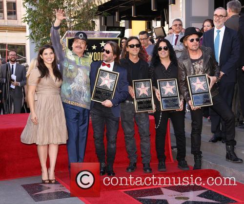 America Ferrera, Carlos Santana, Alex Gonzalez, Sergio Vallin, Juan Calleros and Fher Olvera 9