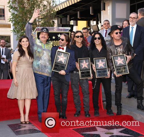 America Ferrera, Carlos Santana, Alex Gonzalez, Sergio Vallin, Juan Calleros and Fher Olvera 10