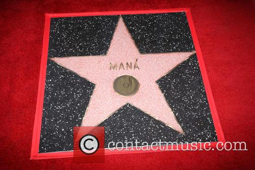 Maná Honored With Star On The Hollywood Walk...