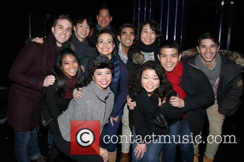 Dan Horn, Michael J. Lee, Lea Salonga, Telly Leung and Cast Of Allegiance 1