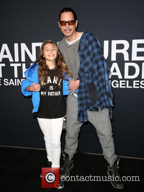 Chris Cornell and his daughter Toni pictured in 2016