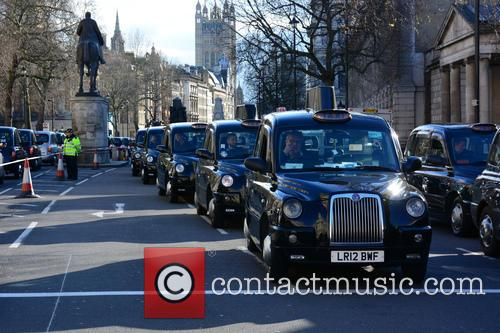 London Taxi Strike London 1