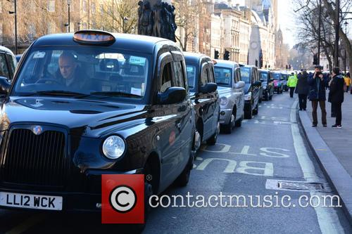 London Taxi Strike London 4