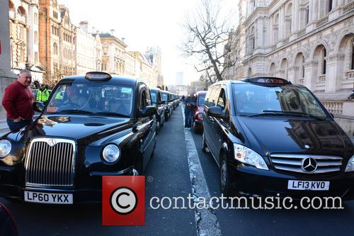 London Taxi Strike London 5