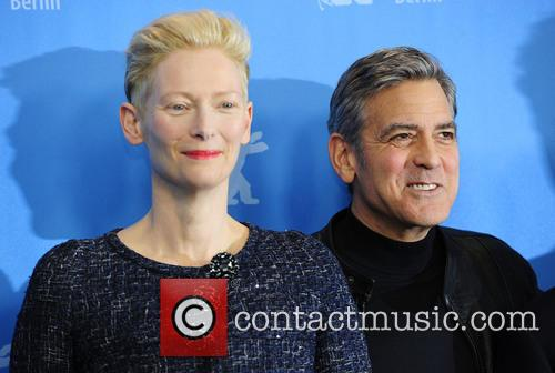 Tilda Swinton and George Clooney 9