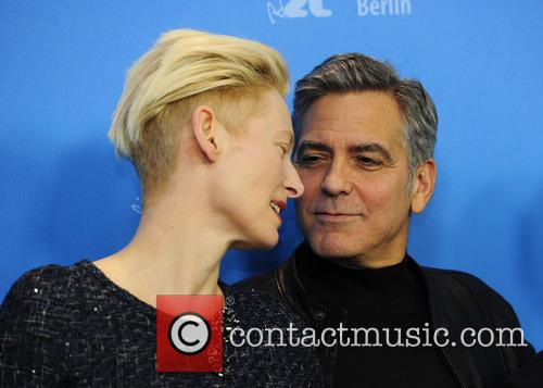 Tilda Swinton and George Clooney 10