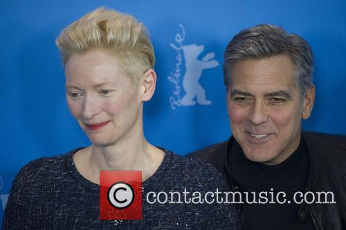 Tilda Swinton and George Clooney 1