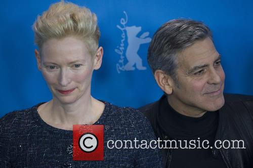Tilda Swinton and George Clooney 2