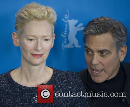 Tilda Swinton and George Clooney 3
