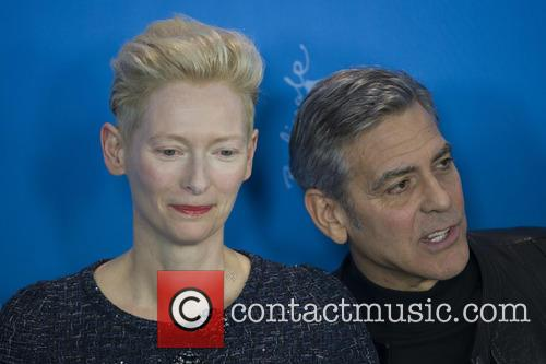 Tilda Swinton and George Clooney 4