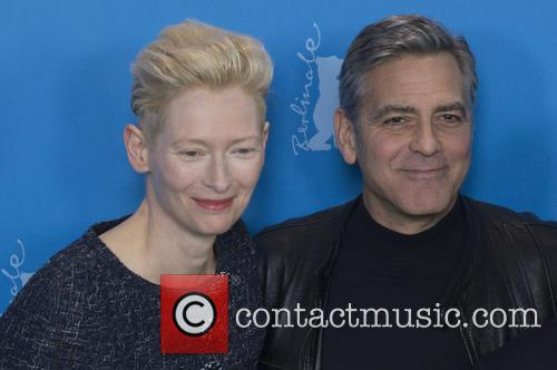 Tilda Swinton and George Clooney 8
