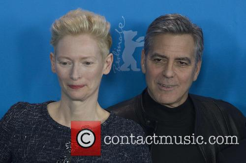 Tilda Swinton and George Clooney 9