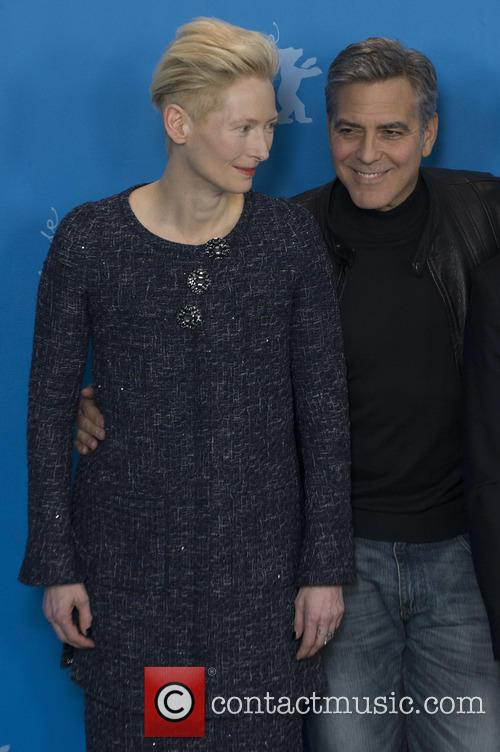 Tilda Swinton and George Clooney 10