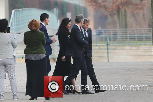 George Clooney and Amal 2