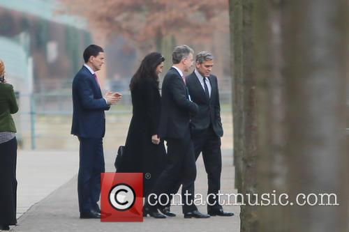 George Clooney and Amal 4