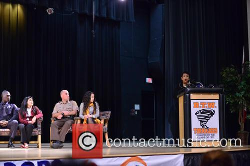 Officer Michel, Dincy Ramirez-rivera, Officer Manny, Victoria Camacho and Loretta E. Lynch 2