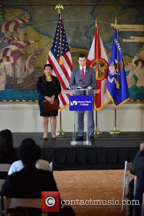 U.S. Attorney General Loretta Lynch holds a press...