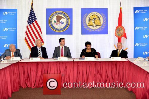 Tomás Pedro Regalado, Carlos A. Gimenez, Wifredo A. Ferrer, Loretta E. Lynch and Eduardo J. Padrón 5