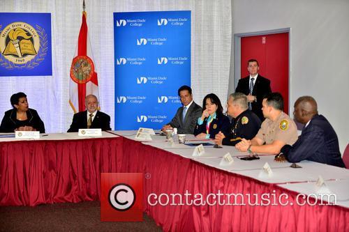 Loretta E. Lynch, Eduardo J. Padrón, Alberto M. Carvalho and Kathy Fernandez-rundle 1