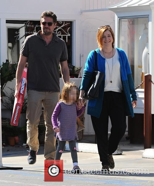 Alyson Hannigan, Alexis Denisof and Satyana Marie Denisof 3