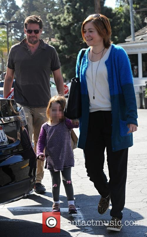 Alyson Hannigan, Alexis Denisof and Satyana Marie Denisof 7