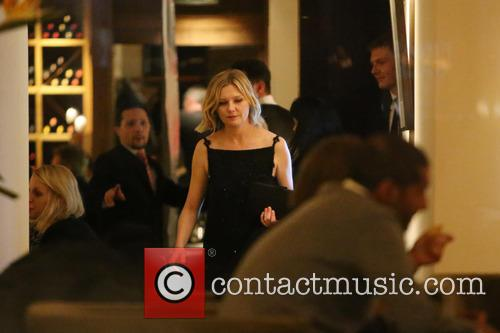 Kirsten Dunst seen having dinner at the Bocca...