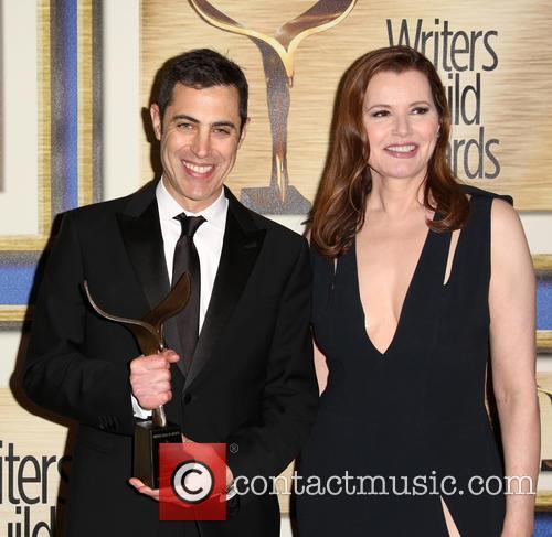 Josh Singer and Geena Davis