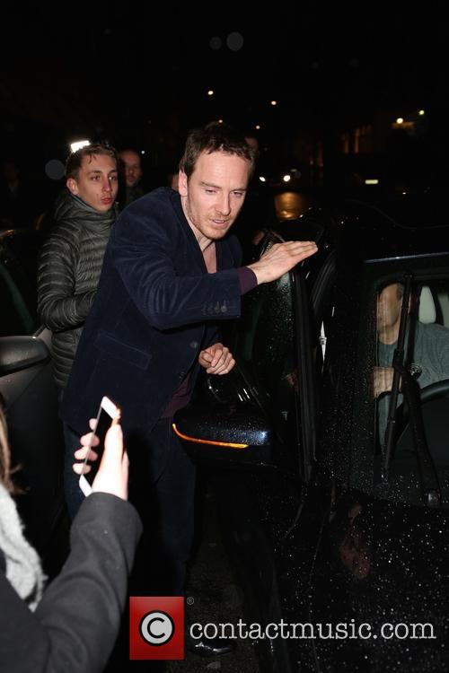 Michael Fassbender at Claridges