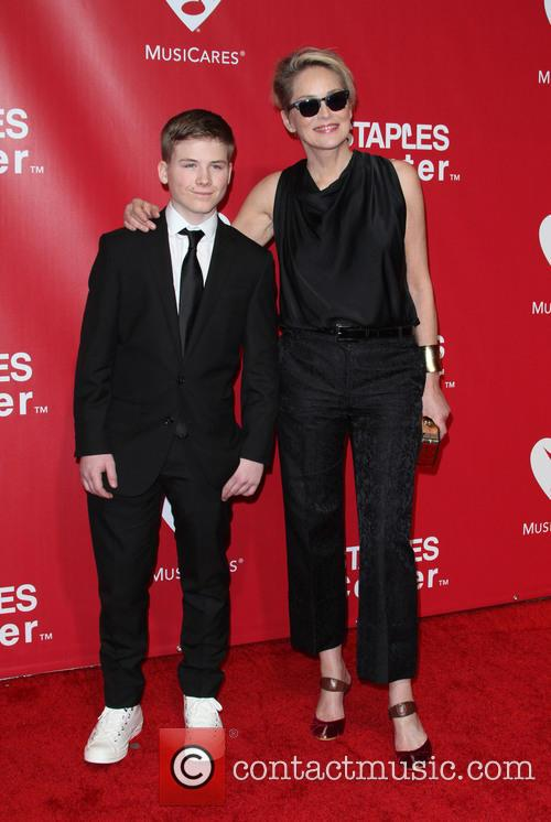 Sharon Stone and Son Roan Bronstein 2