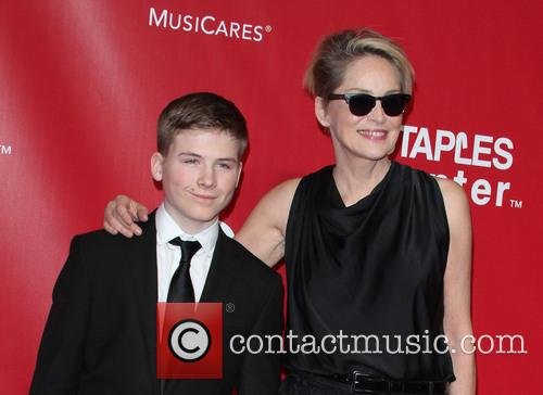 Sharon Stone and Son Roan Bronstein 4