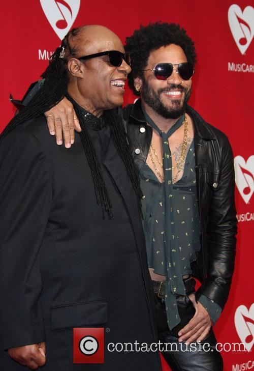 Stevie Wonder and Lenny Kravitz 2