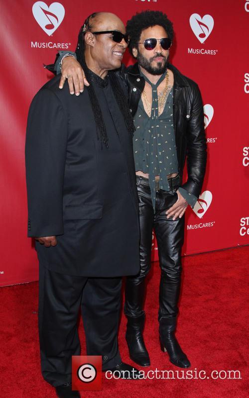 Stevie Wonder and Lenny Kravitz 4