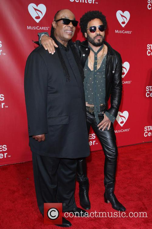 Stevie Wonder and Lenny Kravitz 5