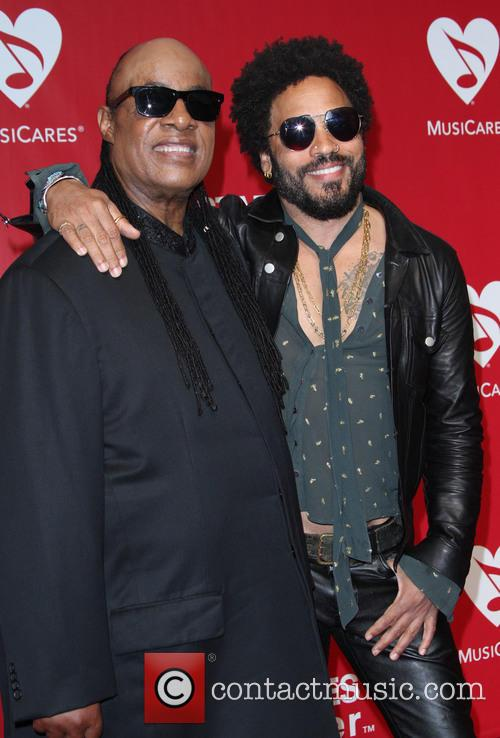 Stevie Wonder and Lenny Kravitz 6
