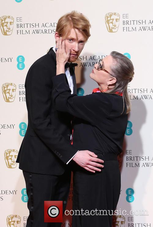 Domhnall Gleeson and Carrie Fisher 1