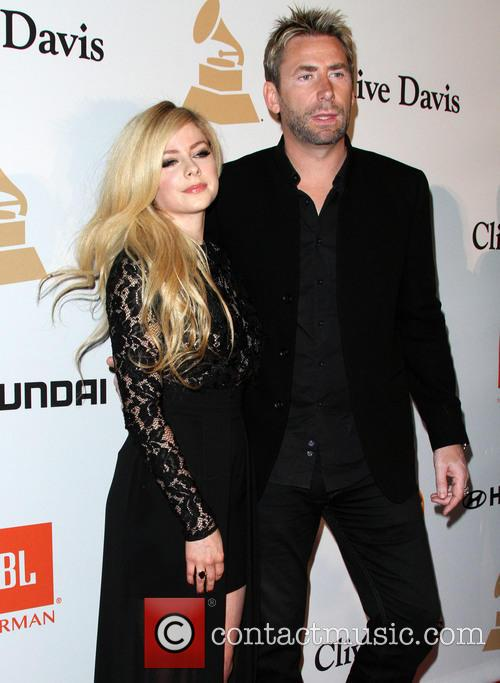 Chad Kroeger and Avril Lavigne at the Clive Davis 2016 Gala