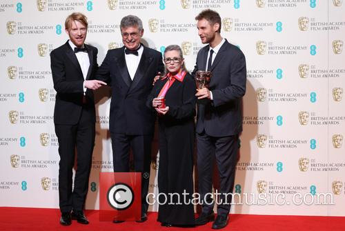 Domhnall Gleeson, Hugo Sigman, Carrie Fisher and Damian Szifron 3