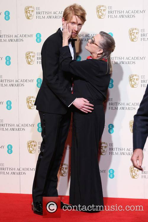 Domhnall Gleeson and Carrie Fisher 4