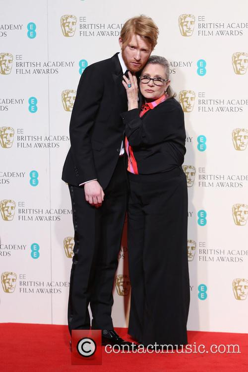 Domhnall Gleeson and Carrie Fisher 5