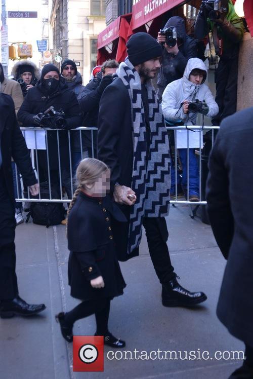 David Beckham and Harper Beckham 1