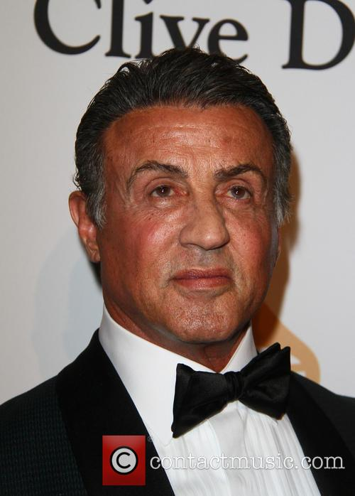 Sylvester Stallone at pre-Grammy Gala