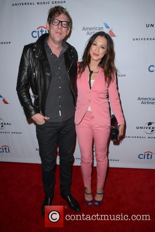 Patrick Carney with Michelle Branch at the 2016 Grammys