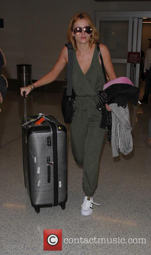Bella Thorne arrives on a flight to Los...