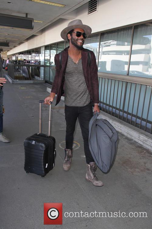 Gary Clark Jr. departs on a flight from...