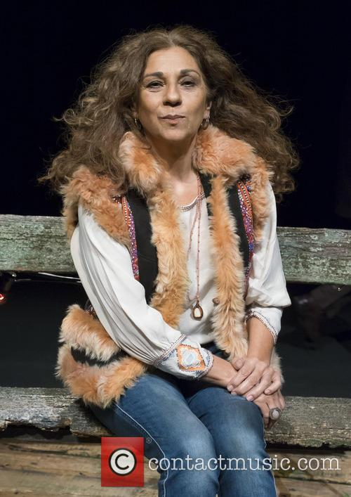 Lolita Flores at a presentation of the play...