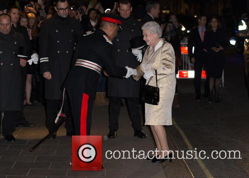 The Queen,patron of the Gold Service Scholarship attends...
