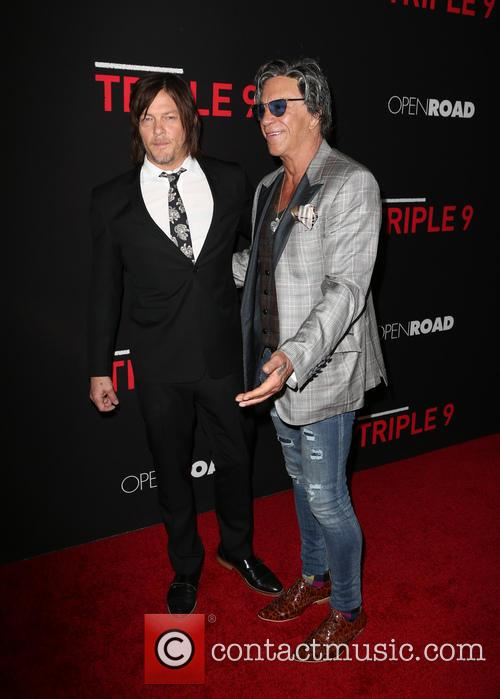 Norman Reedus and Mickey Rourke 1