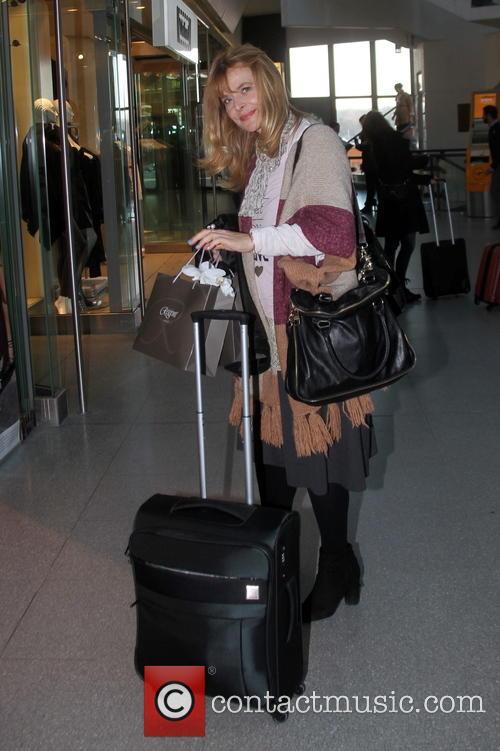 Nastassja Kinski seen at Tegel airport