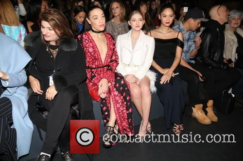 Actress Jackie Miranne, A Guest, Actresses Mia Moretti, Willow Shields, Miss Universe 2016 and Pia Alonzo Wurtzbach 1